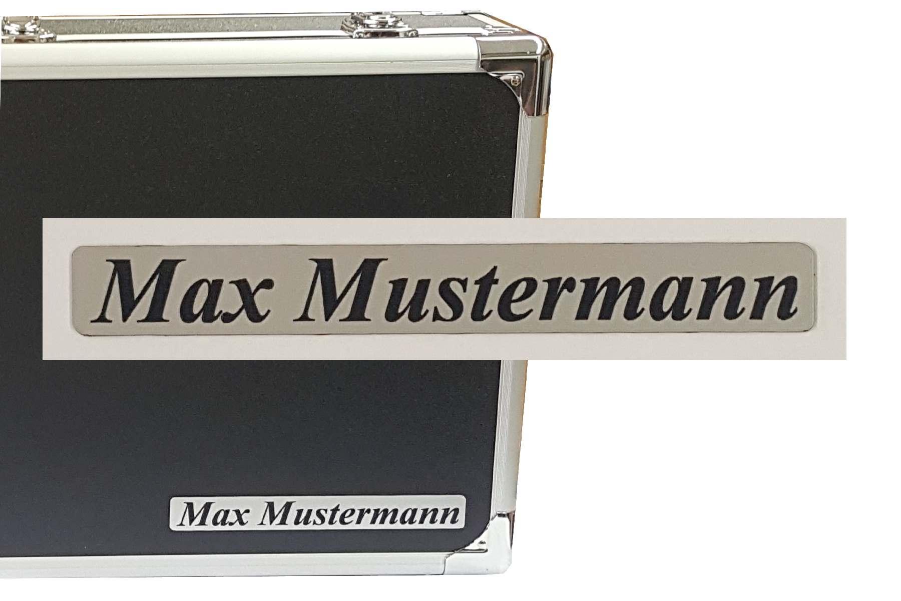 Label  max.  22 x 3 cm